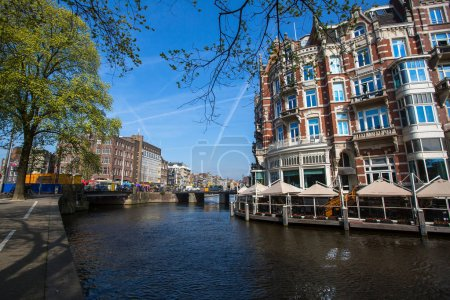 Canal in centre of Amsterdam