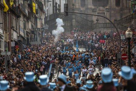 Participants of Queima Das Fitas Parade