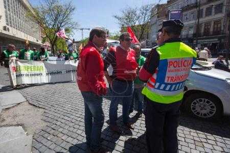 Celebration of May Day in Oporto centre