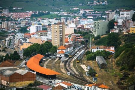 Top view of railway station of Peso