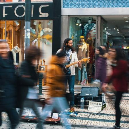 Musicien de rue inconnue
