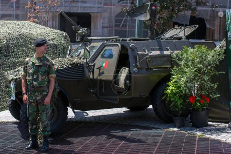 demonstration of the military equipment