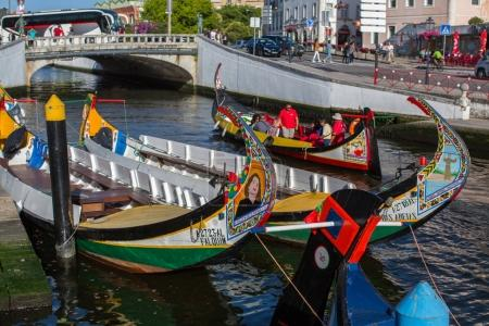 Traditional boats moliceiro