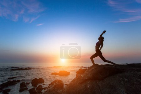Yoga woman silhouette