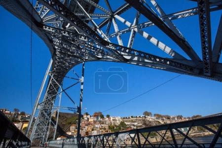 Photo for Dom Luis I bridge over the Douro river, inside view, Porto, Portugal. - Royalty Free Image