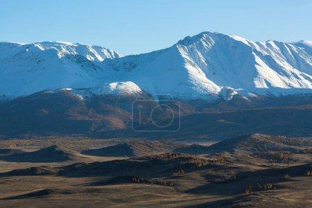 Panorama of Chuya ridge - Altai mountains, Russia.