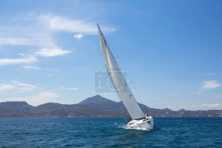 Yachting. Sailing boat in the Aegean Sea.