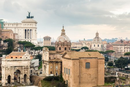 view on city of Rome
