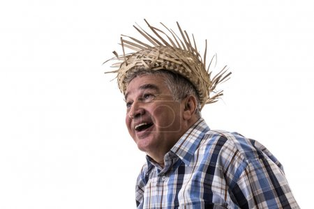 Senior Brazilian man on Junina Party Costume