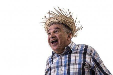 Senior Brazilian man on Junina Party Costume