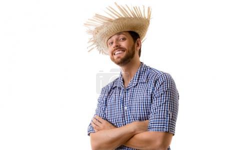 Brazilian man on Junina Party costume