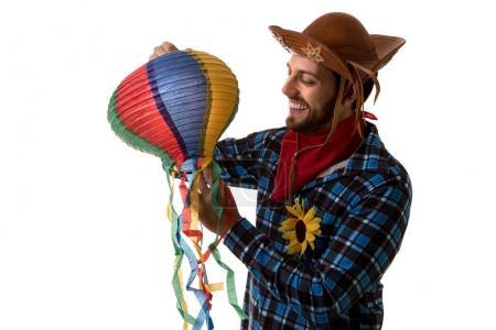 Brazilian man in Junina Party costume