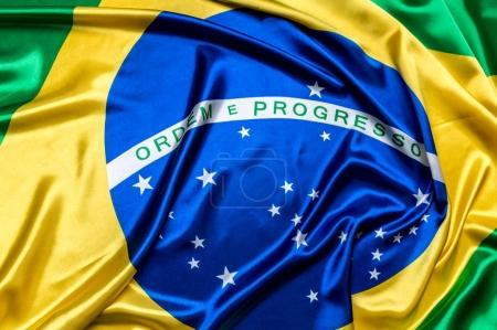 Authentic flag of the Brazil