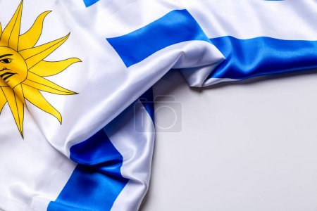 Authentic flag of the Uruguay