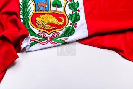 Authentic flag of the Peru
