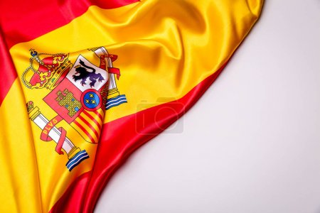 Authentic flag of the Spain