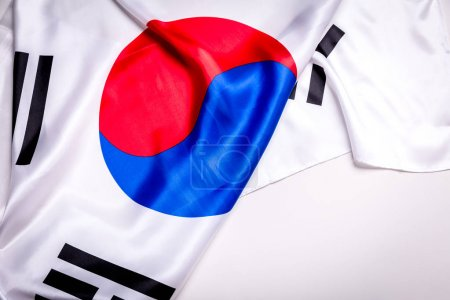 Authentic flag of the South Korea