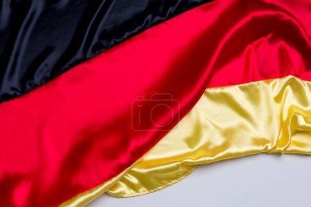 national flag of Germany on grey background