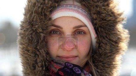 Charming winter girl portrait