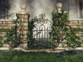 Gate with green vines