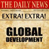 global development, newspaper article text