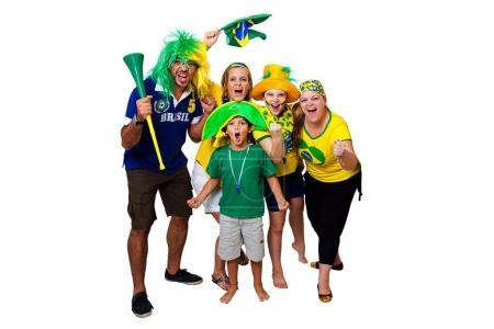 Brazilian fans cheering on
