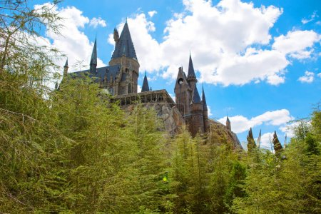 orlando, fl-april, 19, 2016:, hogwarts, castle, , home - B136604404