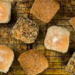 Selection of Mixed Bread Rolls or Buns on an Oven ...