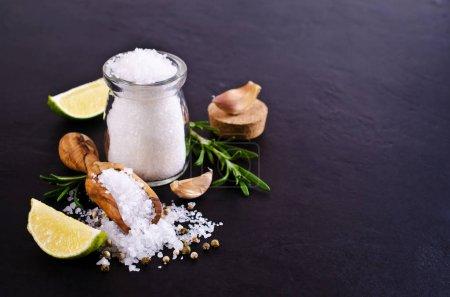 Large crystals of salt