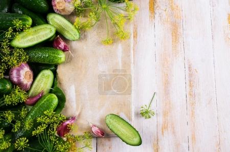 Raw cucumber with spices