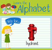 Flashcard letter H is for hydrant