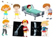 Children with different sickness