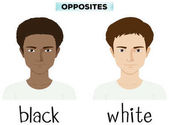 Opposite adjectives for black and white