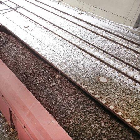 Wagons de train de fret chargement de lignite pour motorisation en saison d'hiver
