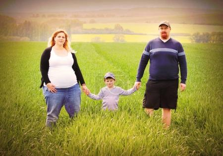 Young farmer's family