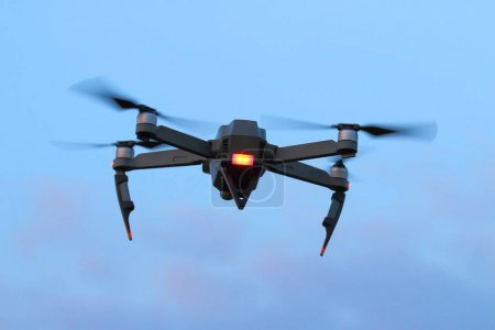 black spying drone