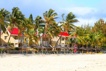 FLIC EN FLAC, MAURITIUS ISLAND - 29. OCTOBER, 2015: Flic en Flac is a seaside village on the western part of the island in the district of Rivire Noire. Its beach is one of the longest and nicest.