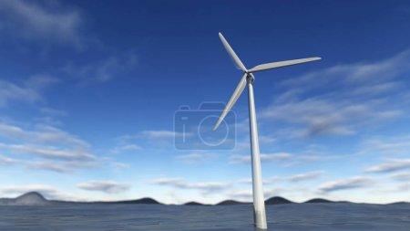 Illustration of wind turbine