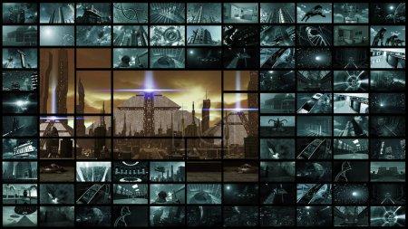 Video wall panorama