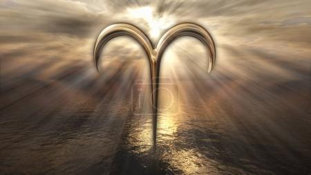 gold zodiac horoscope sign