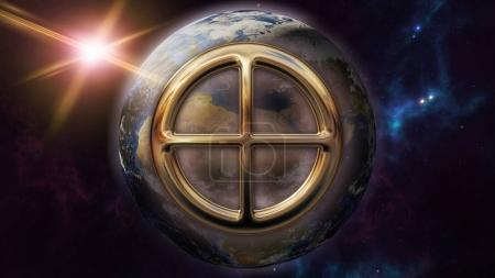 Earth zodiac horoscope symbol
