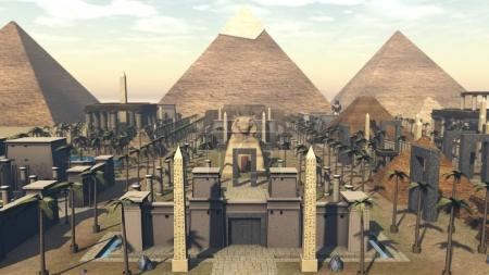 Ancient architecture in city of Egypt