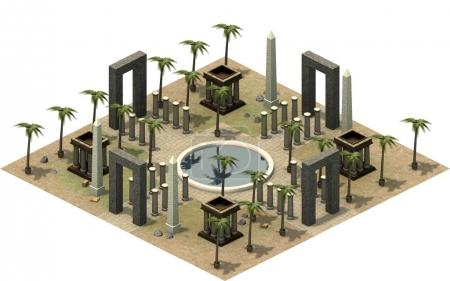 isometric platform of ancient Egypt