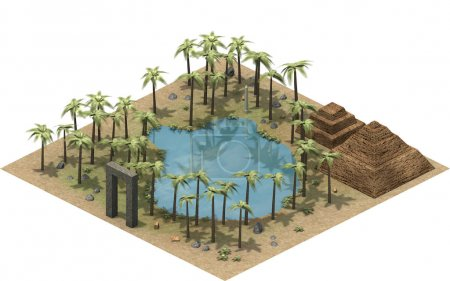 isometric platform of ancient Egypt