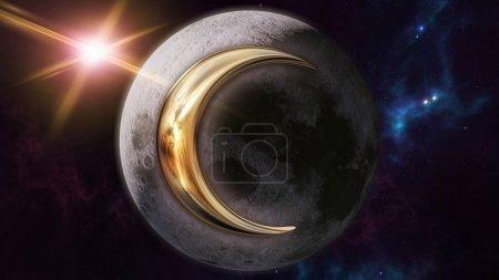 Moon zodiac horoscope symbol