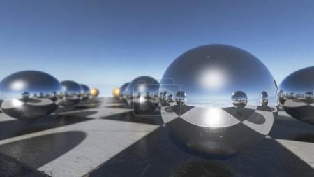 surreal transparent liquid balls