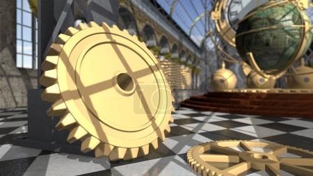 vintage steampunk clockwork wheels