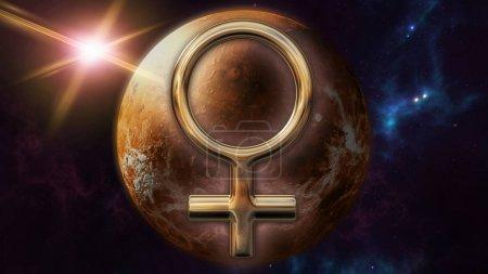 Venus zodiac horoscope symbol