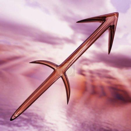 Brilliant zodiac horoscope Sagittarius symbol