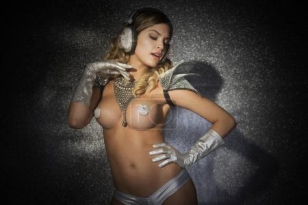 silver godess disco woman